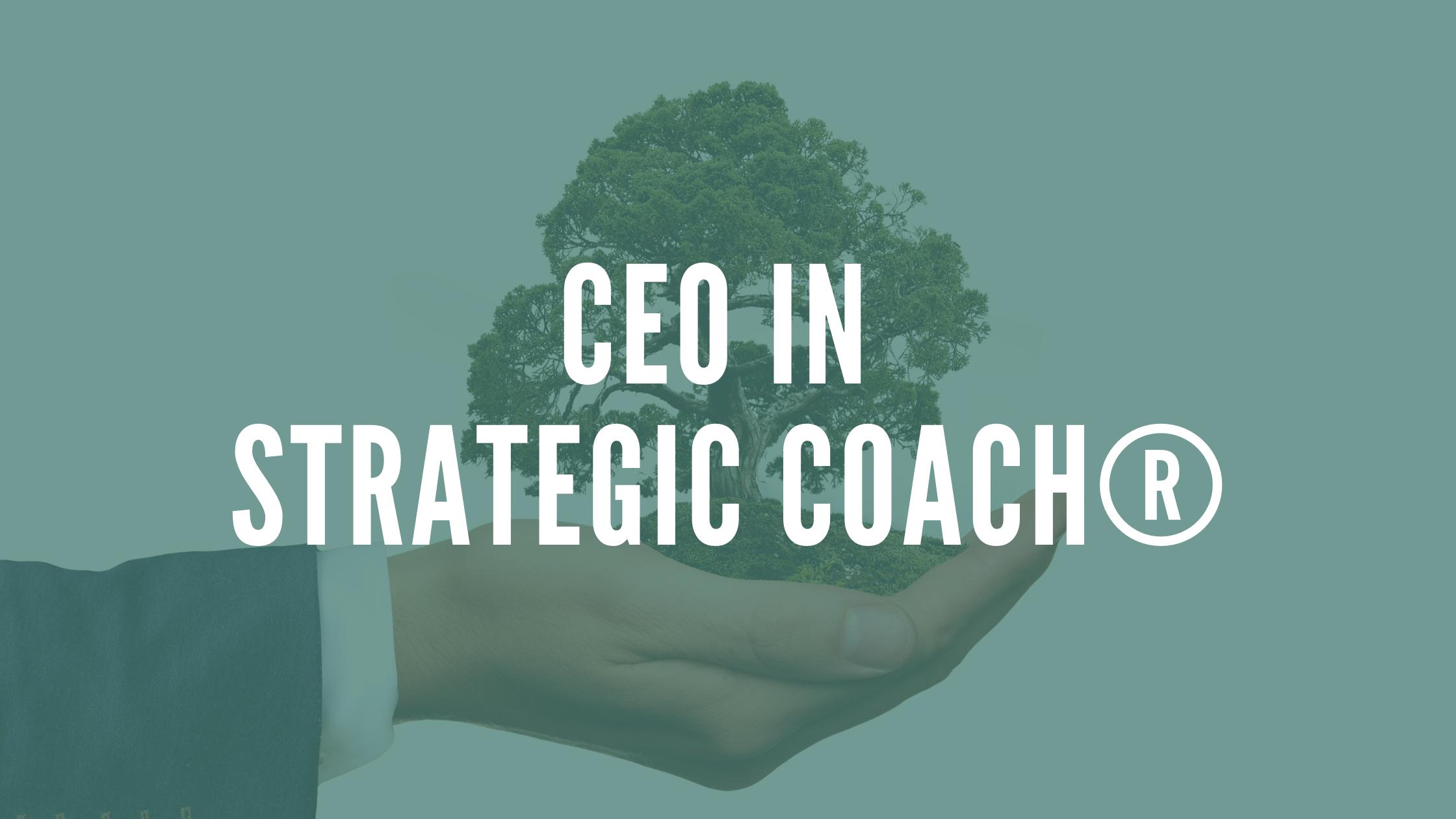 CEO in Strategic Coach®